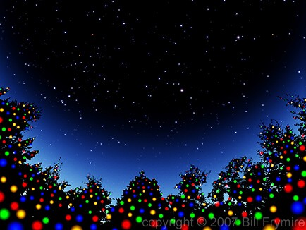 christmas_tree_lights_silhouette_star_sky_434