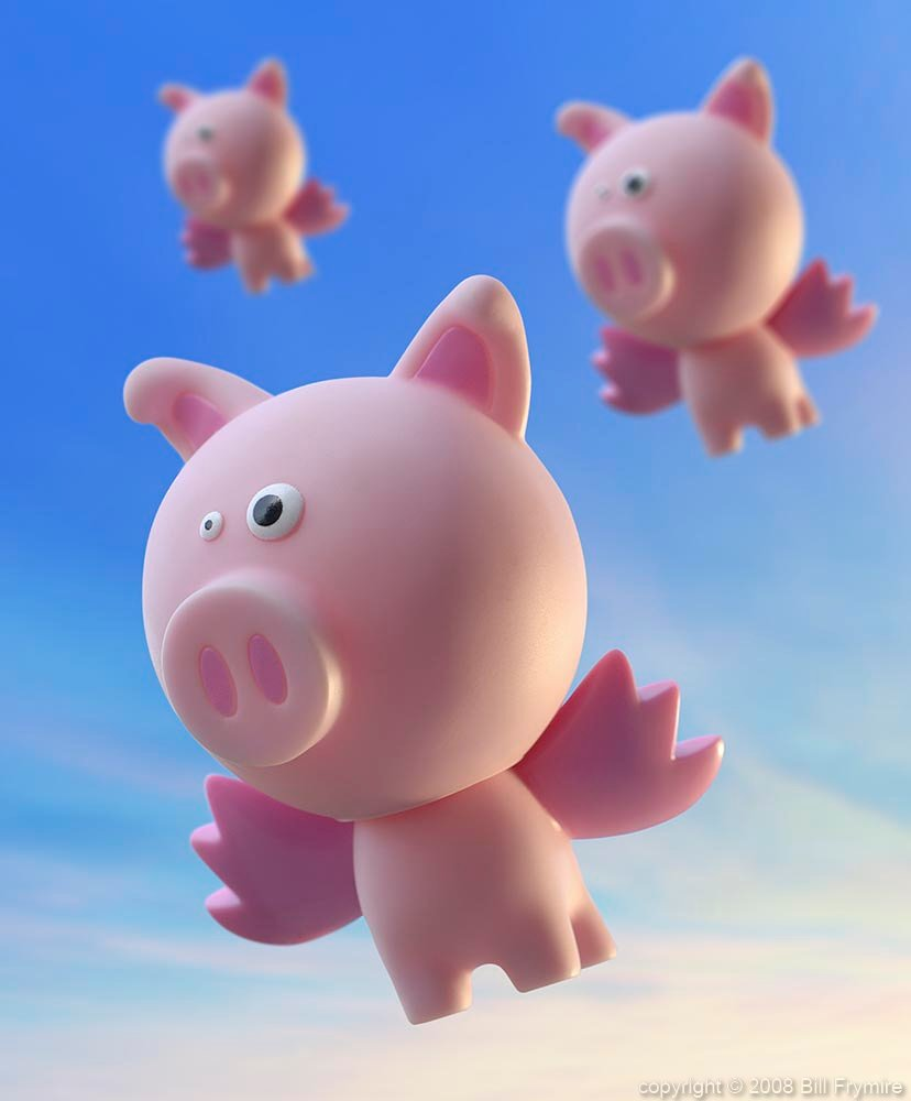 When Pigs Can Fly Image Of The Week Bill Frymirebill Frymire