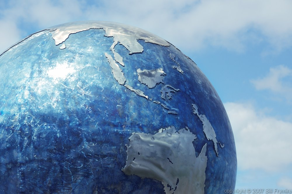 asia in globe