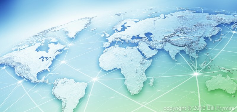 World connections image of the week bill frymirebill frymire world map relief network blueg sciox Images