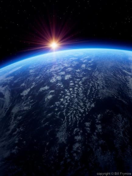 sun-earth-horizon-space