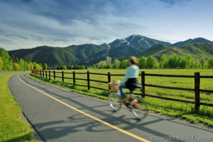 bike rider near SunValley Idaho