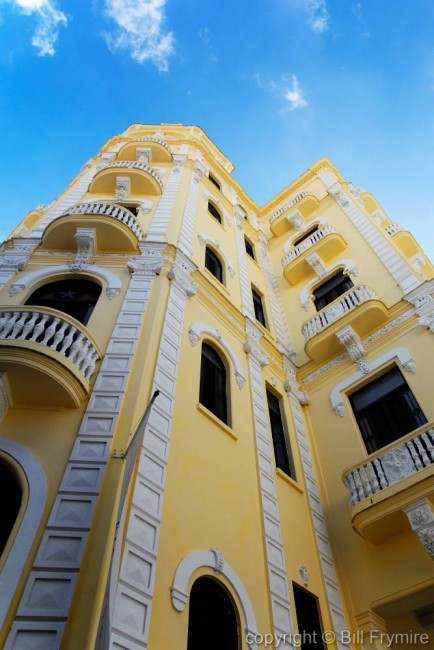 old apartment building in old Havana, Havana, Cuba