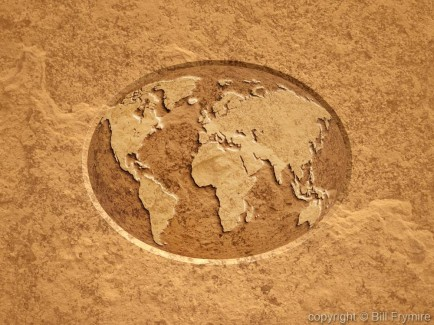 beveled-embossed-flat-world-map-stone