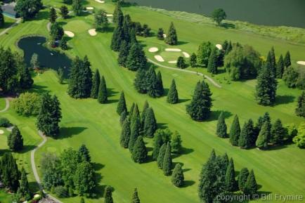 aerial view of golfcourse - Portland Oregon, USA