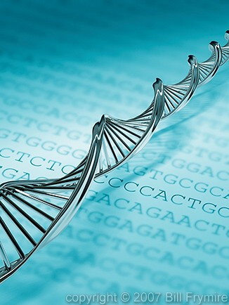 DNA double helix over genetic code