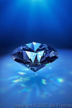diamond with sparkling light