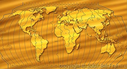 World map with time zones gold world map with time zones gumiabroncs Gallery