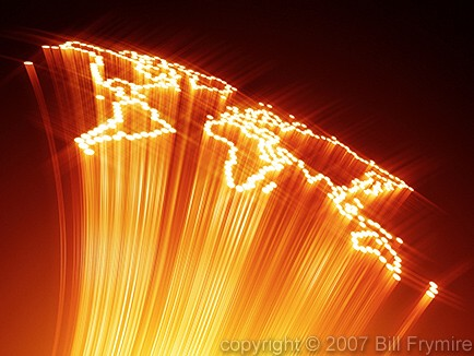 fiber optic world map copyright 2007 Bill Frymire