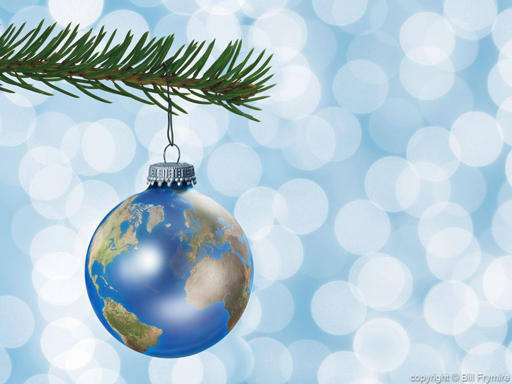 - Earth Globe Christmas Ornament