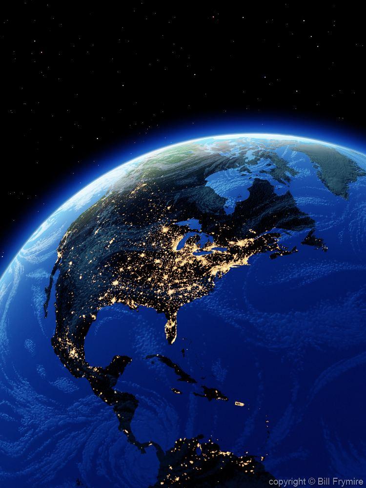 World globe showing population