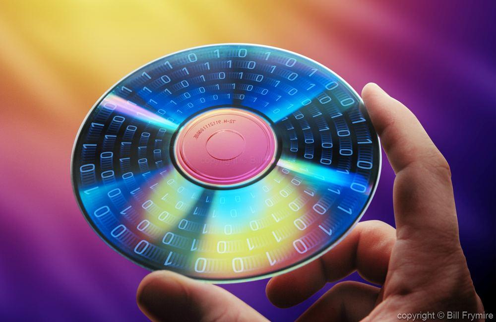 Cd Computer Disc Binary Hand Information Technology