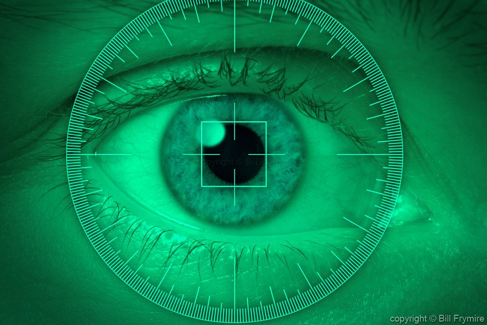 Eye With Radar Screen