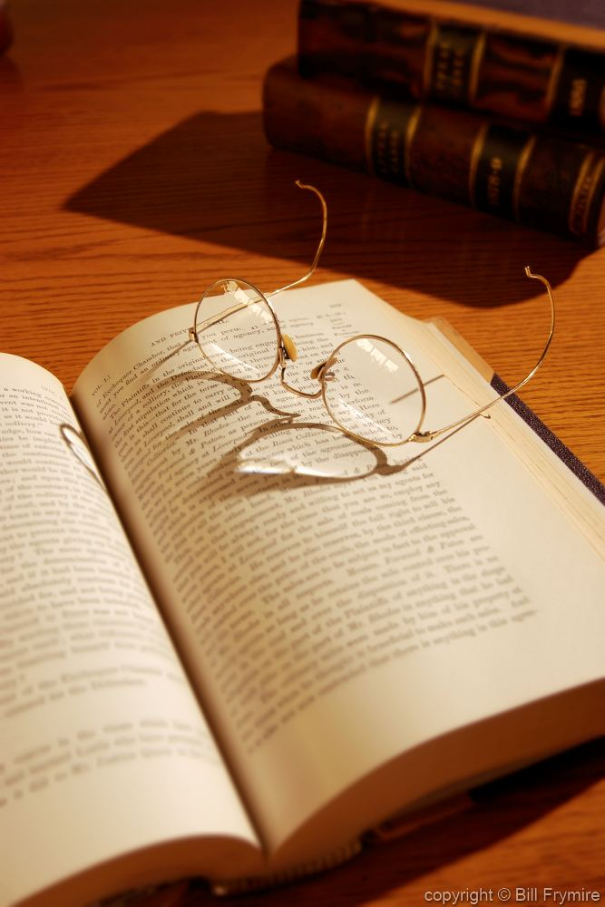 glasses on book - photo #18