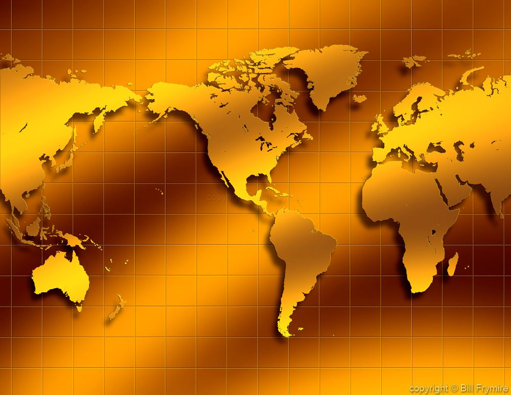 World map in gold tones gumiabroncs Images