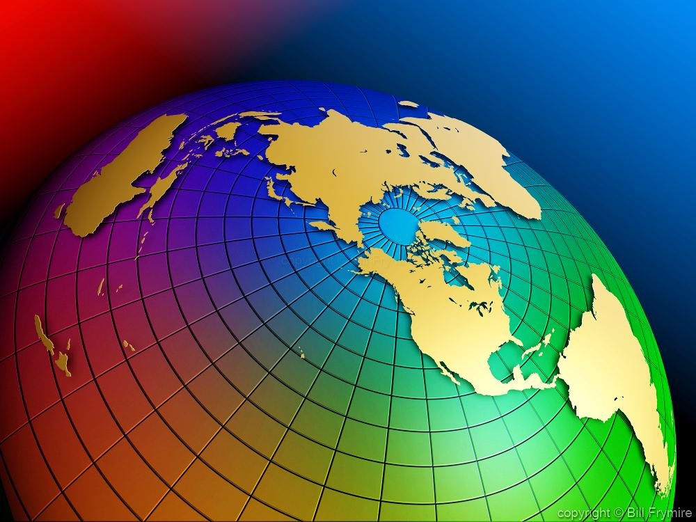 Colorful globe polar view gumiabroncs Choice Image