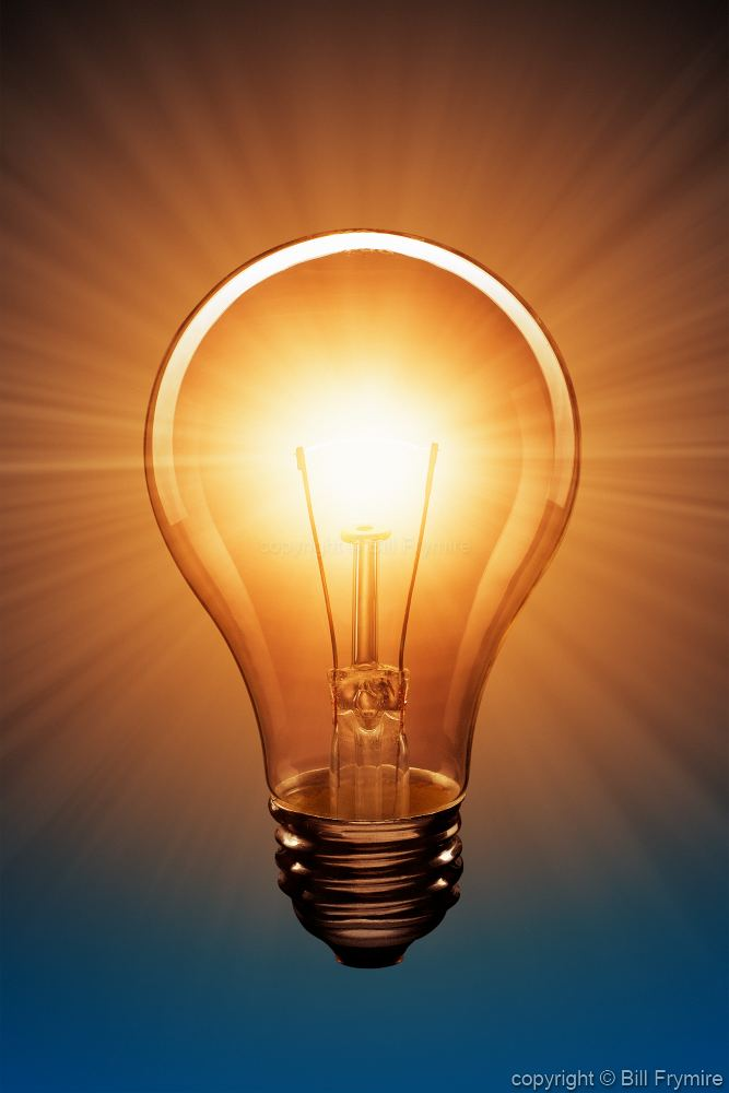 Lit light bulb idea images galleries with a bite A light bulb