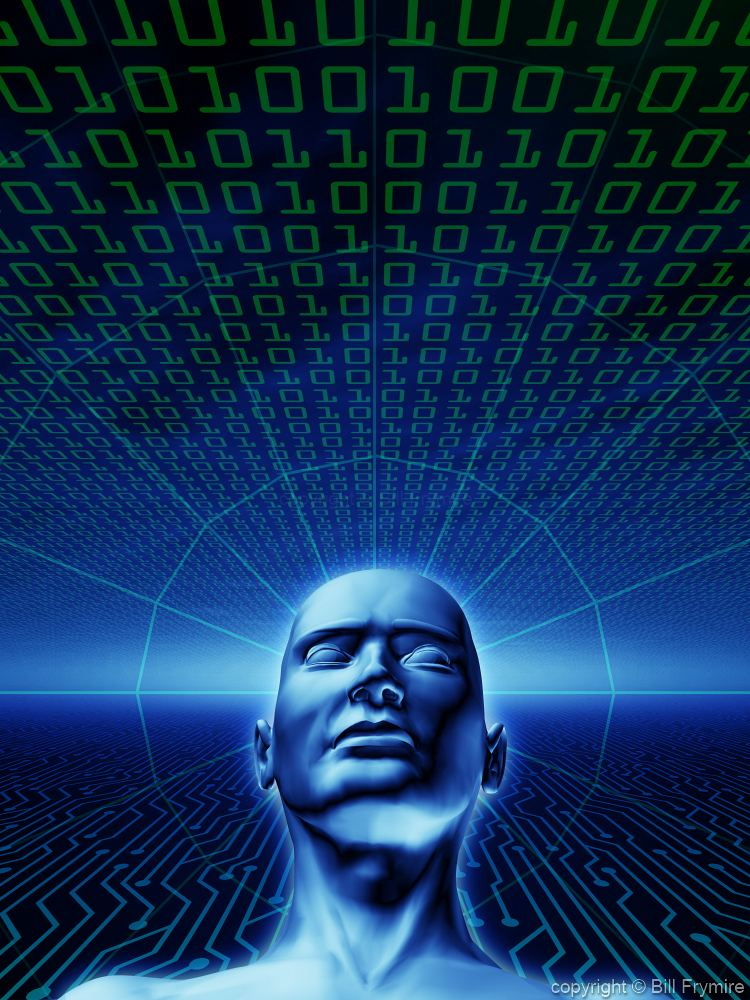 person thinking digital Circuit Letters Background Abstract Background Noise