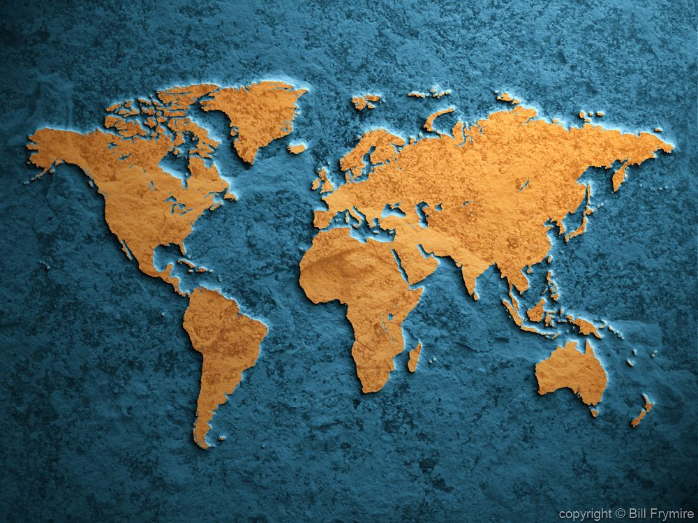 Flat Map Of The World Pictures to Pin on Pinterest PinsDaddy