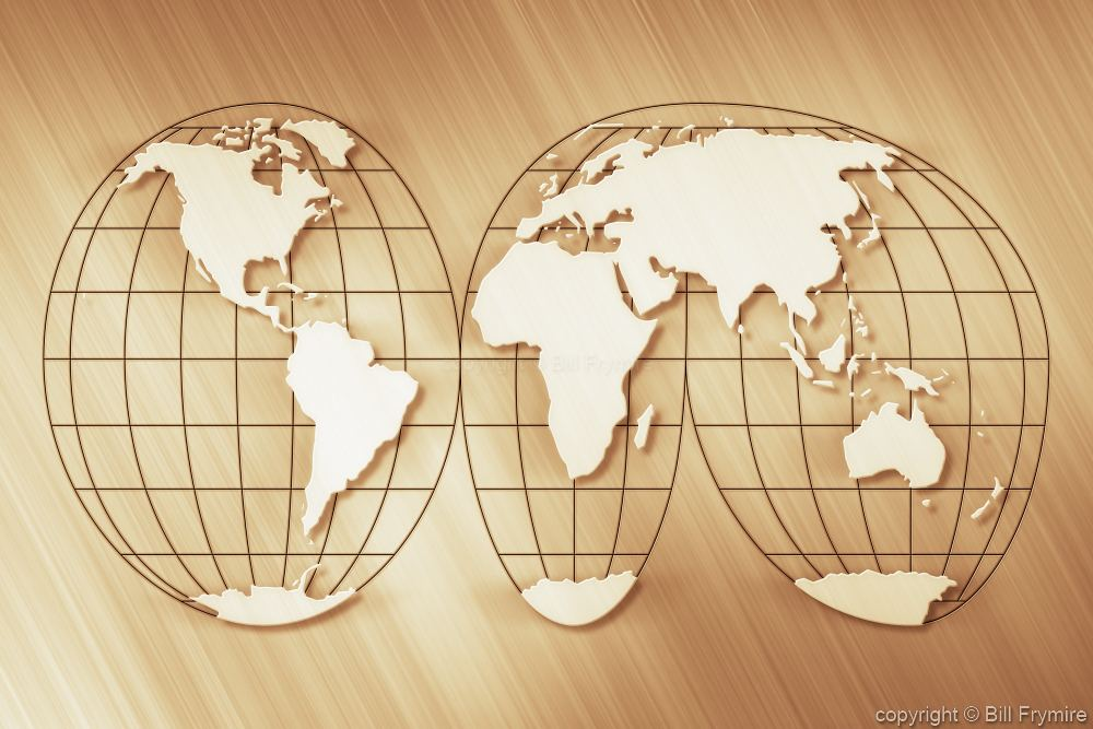 orange peel world map