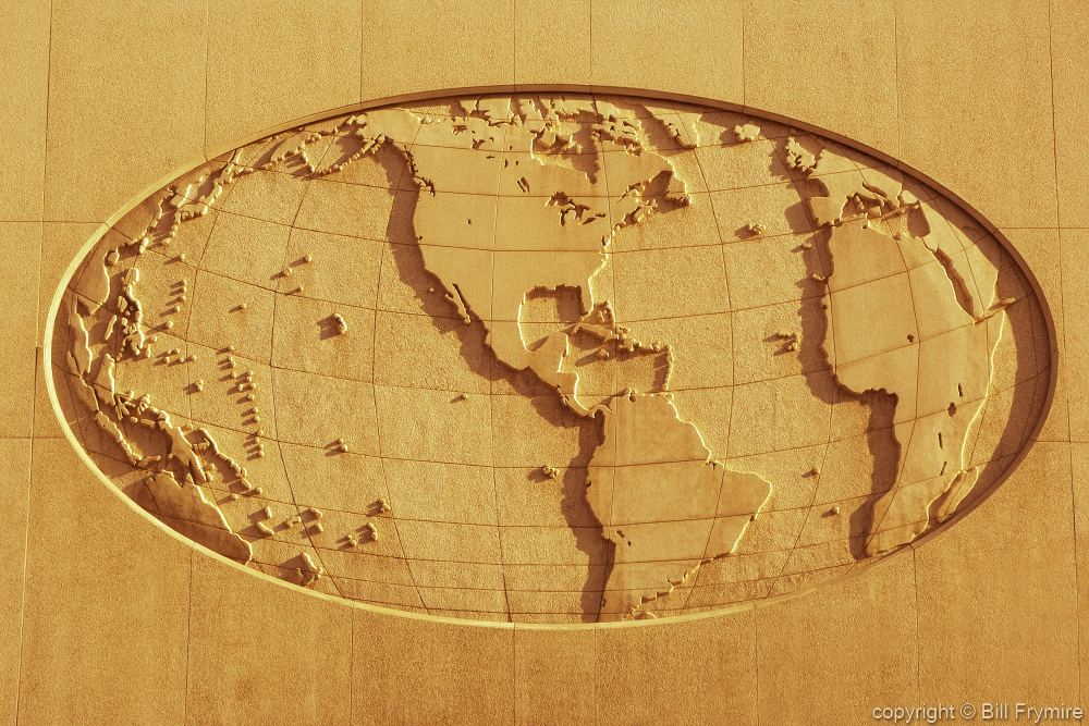Oval world map on side of building salt lake city gumiabroncs Image collections