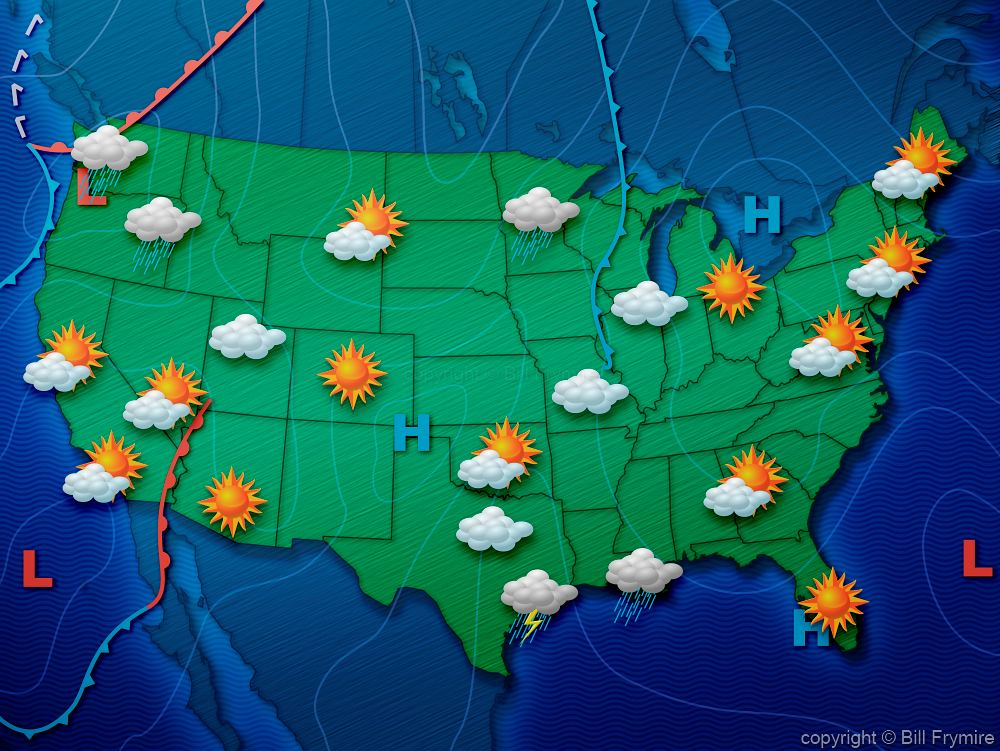 States weather map