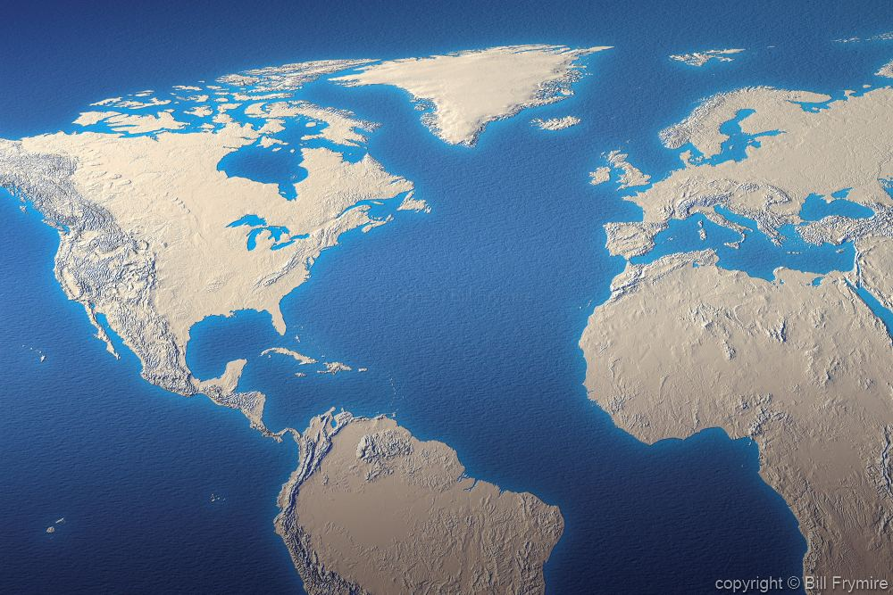 Relief Map Of The World.World Relief Map